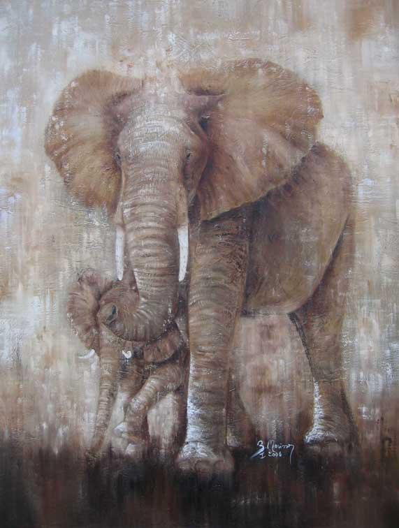 Elephante et Petit (c) Brigitte Morisson